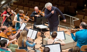 'Our focus and energy are through the roof' .. the BEPhil orchestra rehearse with Simon Rattle