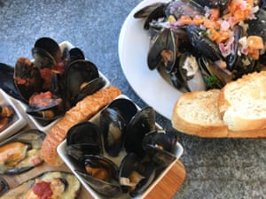 Port Phillip Bay is well-known for its mussels, so stop in at the Little Mussel Cafe on the Bellarine peninsula.