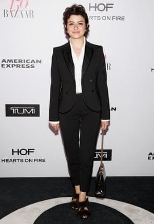 Alia Shawkat at a Harper''s Bazaar party on 27 January.