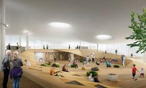 Artist's impression of the top floor children's area