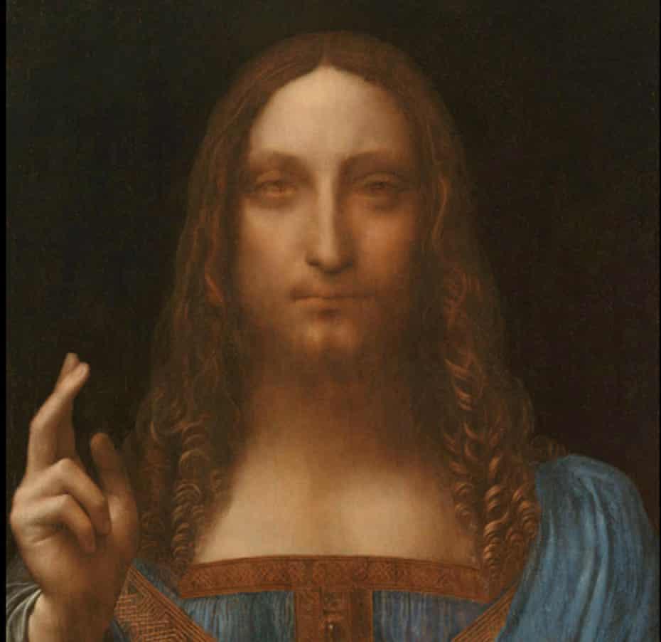 crop of Leonardo's Salvator Mundi