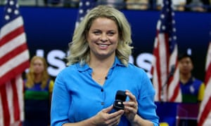 Kim Clijsters during a ceremony last month celebrating her induction into the US Open's Court of Champions.