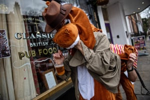 A 'horse' wrestles with a beer.