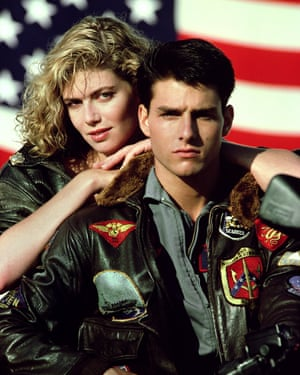 Kelly McGillis and Tom Cruise: 'amazingly she agrees to go on a date with him'.