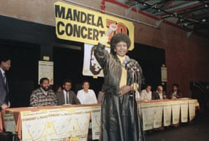 Winnie announces plans for an open-air pop concert near Soweto to celebrate her husband's 70th birthday 17 July 1988