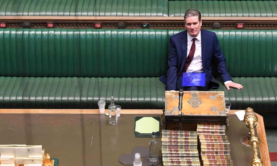 Keir Starmer at prime minister's questions in the House of Commons, 22 April 2020