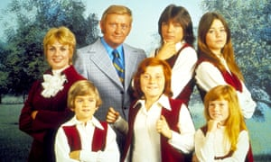 David Cassidy (third from left, back row) in the 1970s TV show The Partridge Family