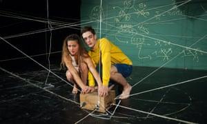 Roman van Houtven and Gytha Parmentier in Us/Them at Summerhall, Edinburgh, in 2016.