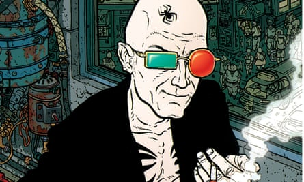 Gonzo messiah ... Spider Jerusalem, illustrated by Darick Robertson, on the cover of Transmetropolitan Volume One.