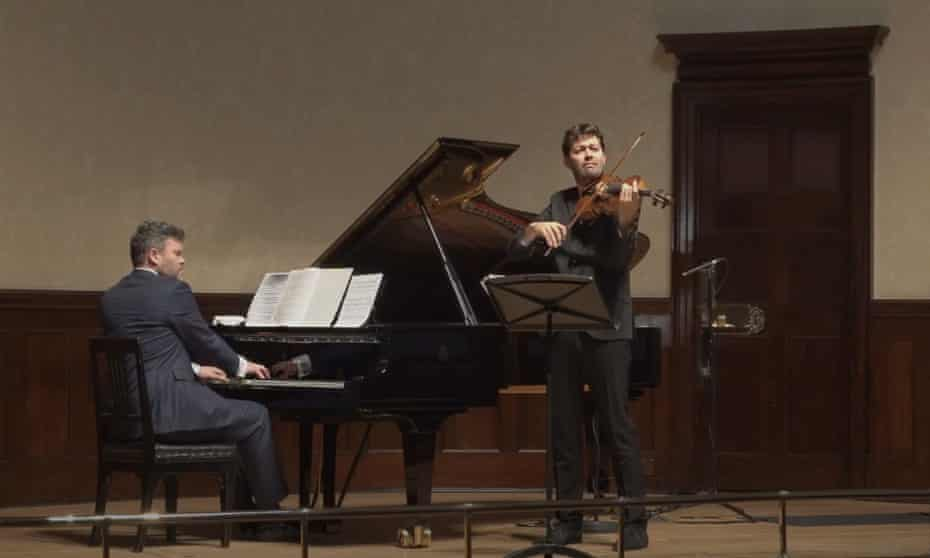 Ryan Wigglesworth at the piano with viola virtuoso Lawrence Power at Wigmore Hall, 9 November 2020.