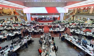 BBC newsroom in New Broadcasting House