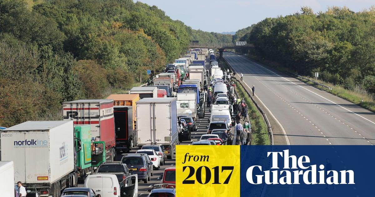 Traffic jams on major UK roads cost economy around £9bn | World news