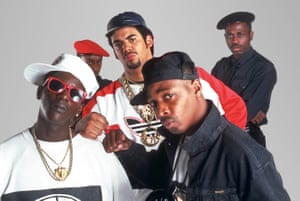 Public Enemy - Flavor Flav, Professor Griff, Terminator X and one of the S1W crew