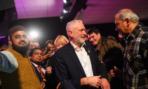 Jeremy Corbyn speaks to Labour activists in Harrow East on Wednesday.