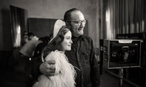 Claire Foy with Paolo Roversi behind the scenes.