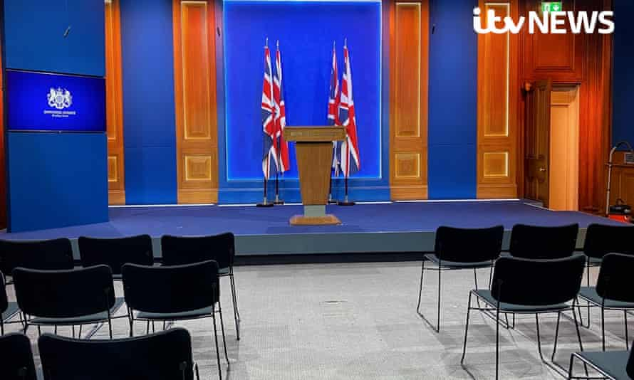 New 10 Downing Street press briefing room