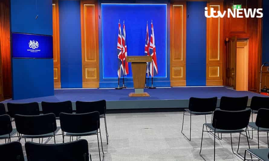 Downing Street's new £2.6m press briefing room.