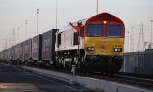 East Wind freight carriages arrive in Barking in January.