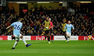 Manchester City's Riyad Mahrez scores their second goal.