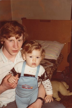 Professor Green (Stephen Manderson) as a child with his dad