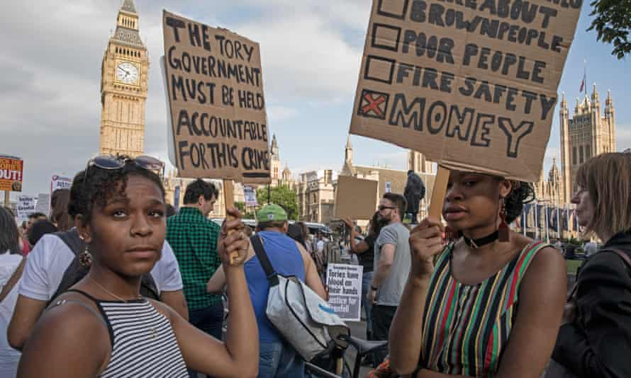 Grenfell protesters take their cause to the Houses of Parliament
