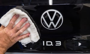 Volkswagen's recently launched ID.3 compact car became Europe's most sold battery electric vehicle in October.
