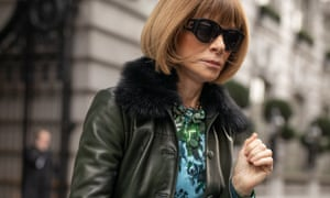 Anna Wintour during London fashion week