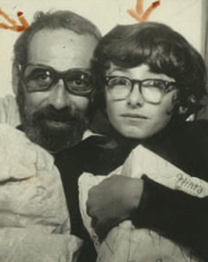An early shot of Andrew Denton with his father.