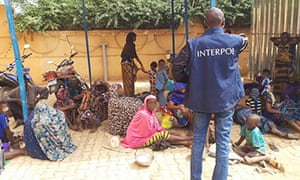 Victims of human trafficking rescued during 'Operation Sarraounia', January 2020.