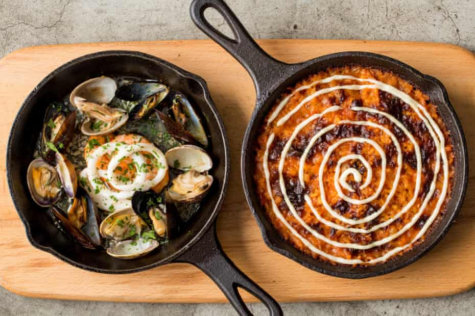 Fresh seafood and charcoal-baked rice at The Optimist