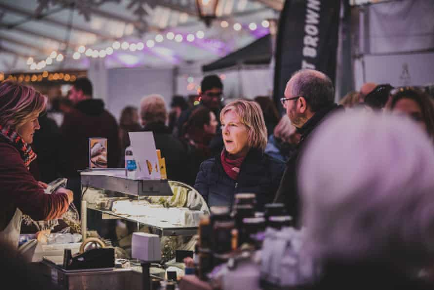The Christmas market at Padstow Christmas festival