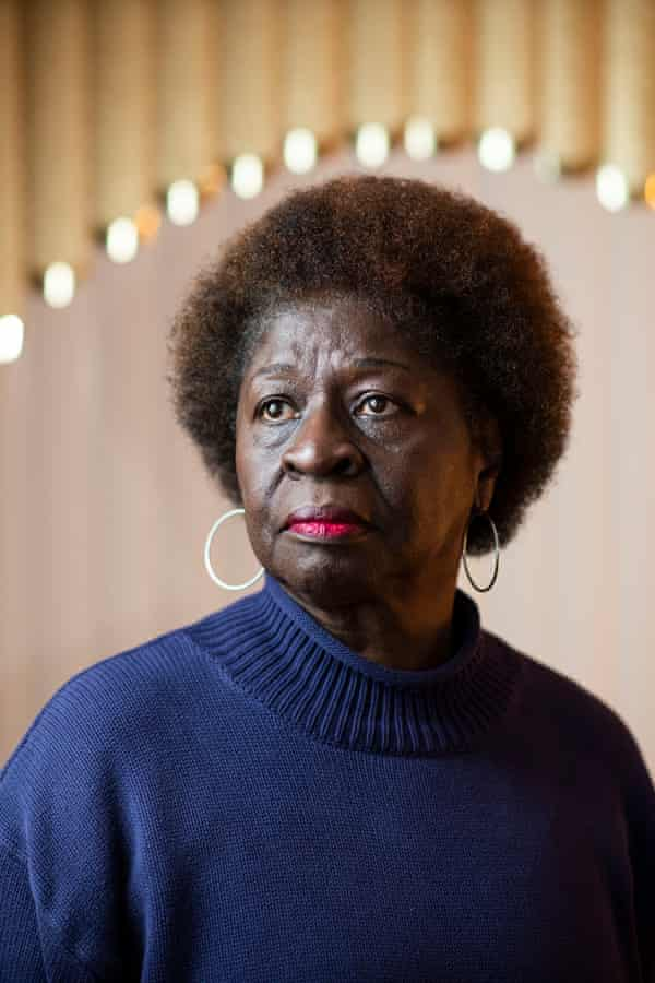 Anita Johnson, an activist who works at VoteRider, poses for a portrait at her home in Milwaukee, Wis. Nov. 4, 2019.