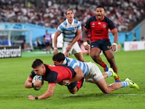 Ben Youngs scores England's third try.