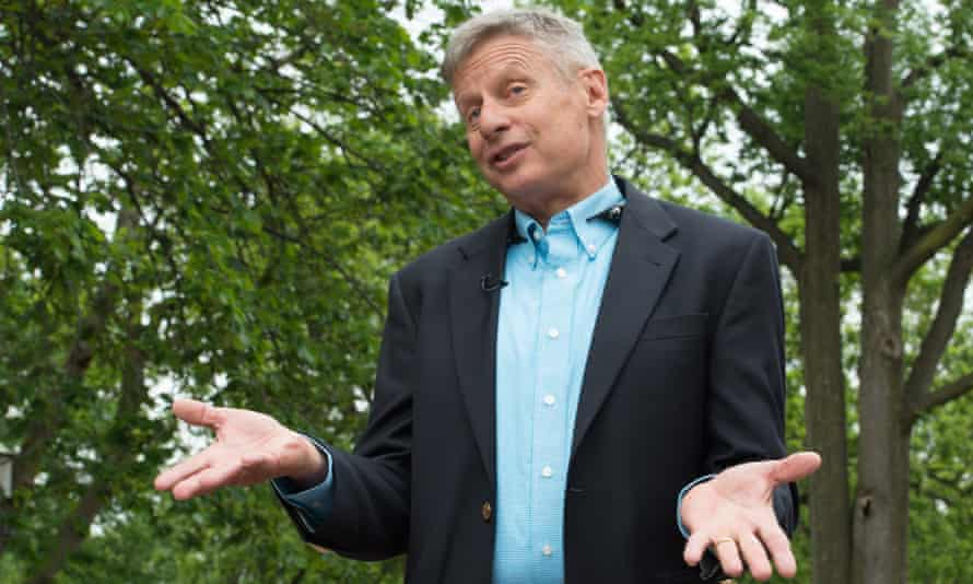 Libertarian Party presidential candidate Gary Johnson, who has tried to woo Republicans disaffected by Donald Trump.