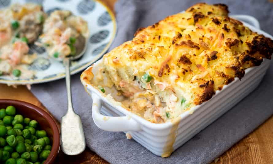 A home-cooked fish pie