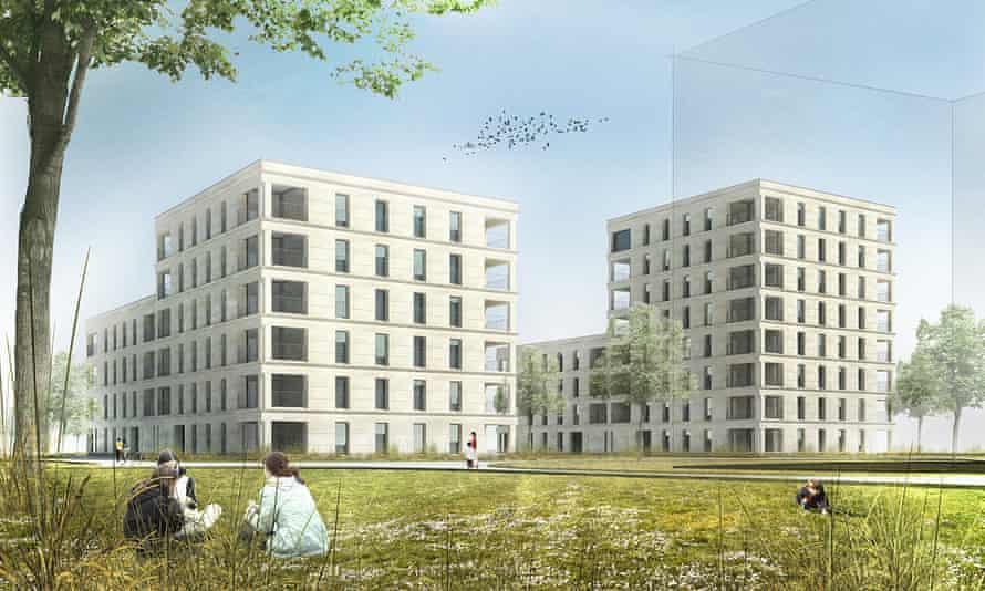 How Perraudin Architecture's Switzerland housing will look.