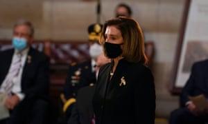 Nancy Pelosi in the Rotunda of the Capitol.