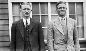 South African cricketers Chud Langton and Bob Crisp (right) in 1935. Crisp would register a king pair in 1936.