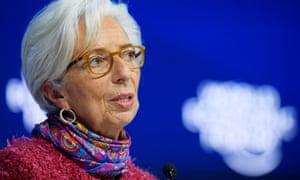 IMF managing director Christine Lagarde speaking at Davos.