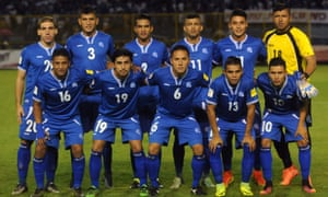 El Salvador's players, pictured before their World Cup 2018 qualifiers against Mexico last week.