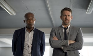 'Discredits the concept of comedy violence': Samuel L Jackson and Ryan Reynolds in The Hitman's Bodyguard.