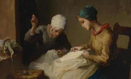 The Young Seamstresses by Jean-François Millet … a seamstress is accused of murder in Laura Purcell's The Corset.
