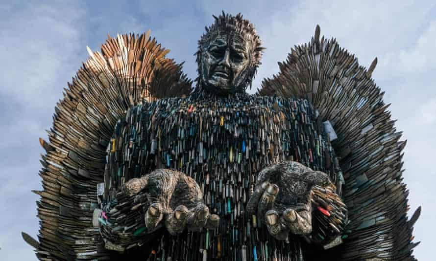 The Knife Angel sculpture in Middlesbrough