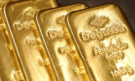 Gold bullion: attractive to investors as interest rates fall.
