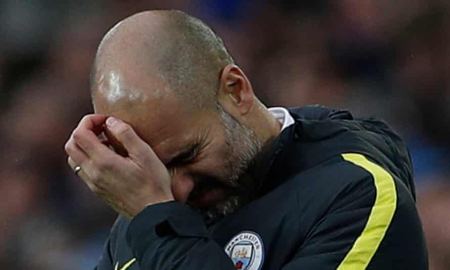 Guardiola arrived after a long pursuit by City, but his first season isn't going to plan.