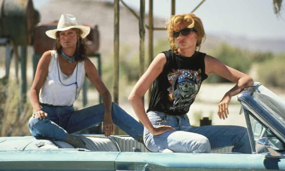 'Thelma And Louise' Film - 1991No Merchandising. Editorial Use Only. No Book Cover Usage Mandatory Credit: Photo by c.MGM/Everett/REX (581582g) 'Thelma And Louise', Susan Sarandon, Geena Davis 'Thelma And Louise' Film - 1991