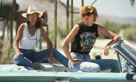 With Geena Davis in Thelma And Louise, 1991.