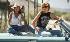 Thelma & Louise in 1991 in midblue denim.