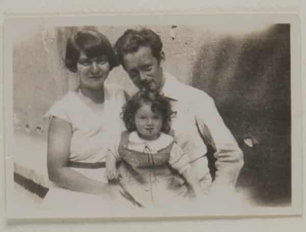Ann Kirk and her parents