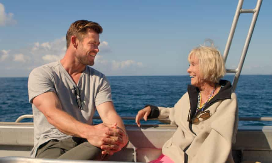 Screen Magic ... Chris Hemsworth and Valerie Taylor.